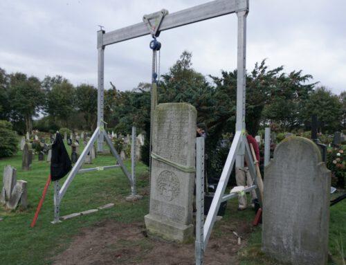Restaurierung der historischen Grabplatte des Matthias Petersen (1632 – 1706) 26.09. – 02.10.2021